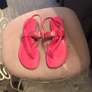 Hot pink Tory Burch sandals